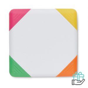 4-kleuren Markeerstift wit bedrukken
