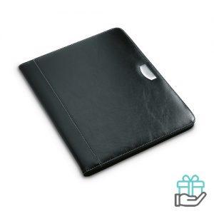 A4 notitieboek schijfmap PU zwart bedrukken