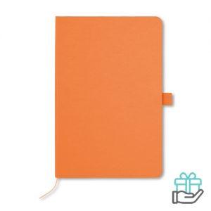 A5 Notitieblok papieren kaft oranje bedrukken