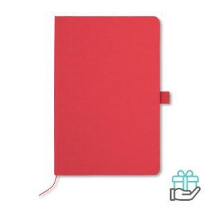 A5 Notitieblok papieren kaft rood bedrukken