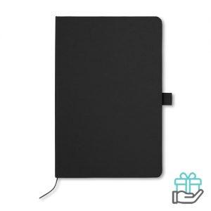 A5 Notitieblok papieren kaft zwart bedrukken