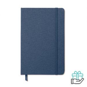 A5 Notitieblok poly blauw bedrukken