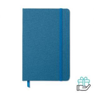 A5 Notitieblok poly koninklijk blauw bedrukken