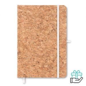 A5 notitieboek duurzaam wit bedrukken