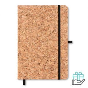 A5 notitieboek duurzaam zwart bedrukken