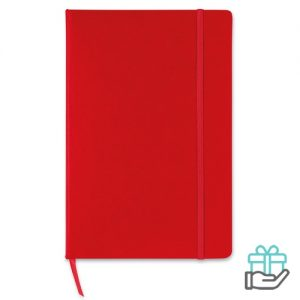 A5 notitieboek gekleurd lint rood bedrukken