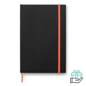 A5 notitieboek papieren kaft oranje bedrukken