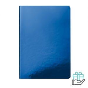 A5 notitieboek softcover gelinieerd blauw bedrukken