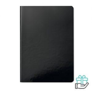 A5 notitieboek softcover gelinieerd zwart bedrukken