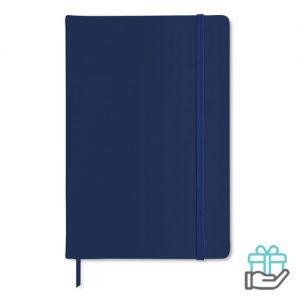 A5 notitieboekje PU cover blanco blauw bedrukken