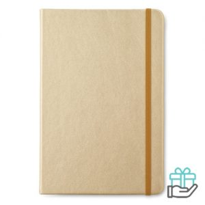 A5 notitieboekje PU gelinieerd goud bedrukken