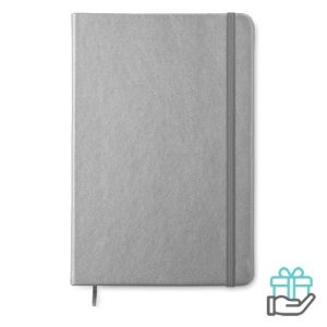 A5 notitieboekje PU gelinieerd titanium bedrukken