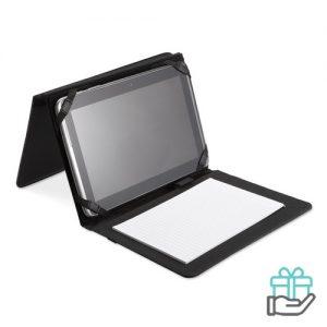 A5 schrijfmap tablethoes zwart bedrukken