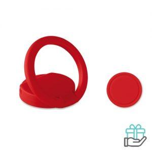 ABS ringhouder telefoon rood bedrukken
