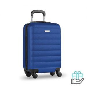 ABS trolley 20 inch koninklijk blauw bedrukken