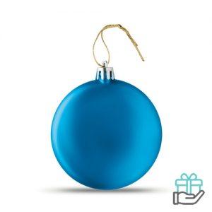 Afgeplatte kerstbal koninklijk blauw bedrukken