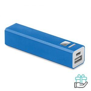 Alu powerBank 8000mAh koninklijk blauw bedrukken
