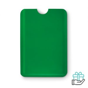 Anti-skimming kaarthouder bankpas groen bedrukken