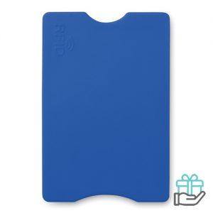Anti-skimming kaarthouder pasje blauw bedrukken