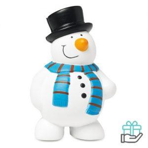 Anti-stress sneeuwman wit bedrukken