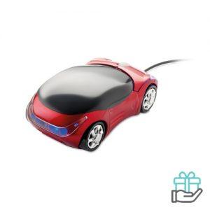 Auto model computermuis rood bedrukken