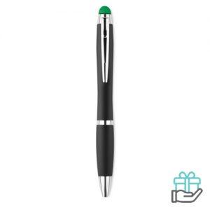 Balpen stylus lampje groen bedrukken