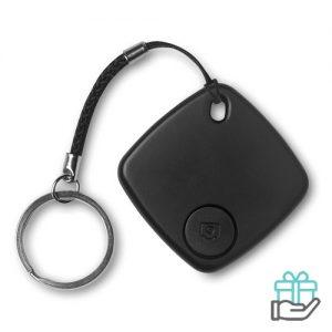 Bluetooth sleutelvinder zwart bedrukken