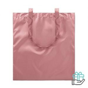 Boodschappentas metallic baby roze bedrukken