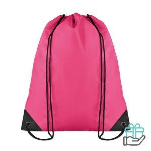 Budget reis rugzakje roze bedrukken