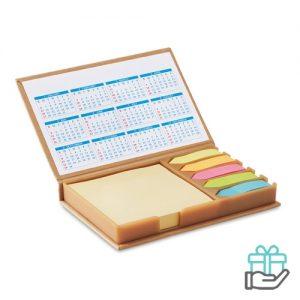 Bureauset kalender beige bedrukken
