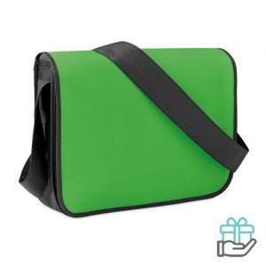 Documententas gekleurde flap groen bedrukken