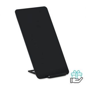 Draadloze oplader telefoonstandaard zwart bedrukken