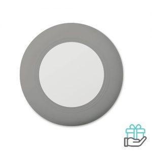 Draadloze oplader travel grijs bedrukken
