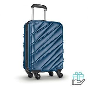 Hardcase PET trolley blauw bedrukken