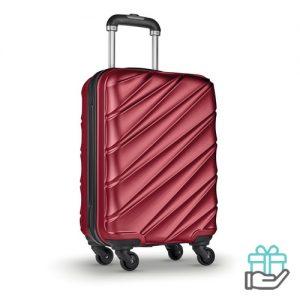 Hardcase PET trolley rood bedrukken