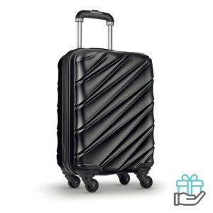 Hardcase PET trolley zwart bedrukken