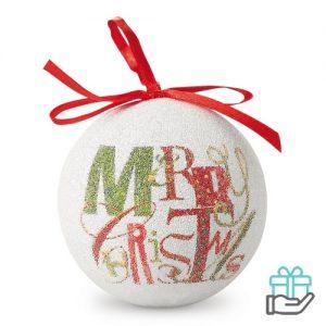 Kerstbal Merry Christmas multikleur bedrukken