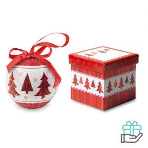Kerstbal rode boom schenkverpakking multikleur bedrukken