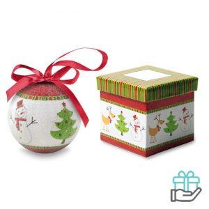 Kerstbal sneeuwpop schenkverpakking multikleur bedrukken