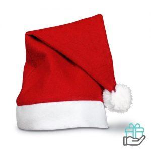 Kerstmuts rood bedrukken