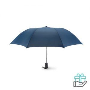 Kleine opvouwbare paraplu 21 inch blauw bedrukken