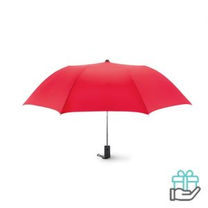 Kleine opvouwbare paraplu 21 inch rood bedrukken