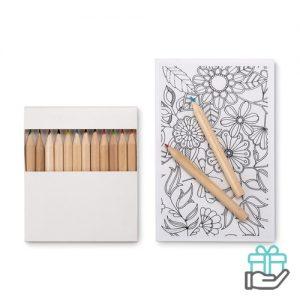 Kleurkaarten voor volwassenen wit bedrukken
