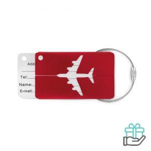 Kofferlabel bagage rood bedrukken