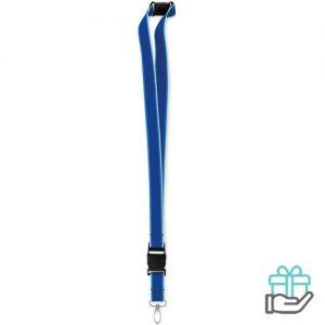Lanyard glow koninklijk blauw bedrukken