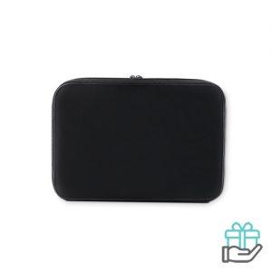 Laptop beschermhoes 13 inch zwart bedrukken
