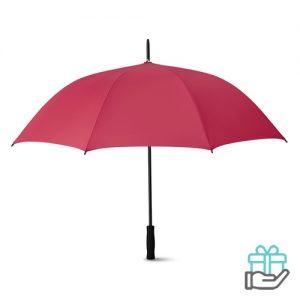 Luxe paraplu 27 inch bordeaux bedrukken
