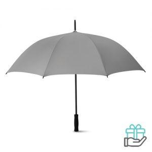Luxe paraplu 27 inch grijs bedrukken