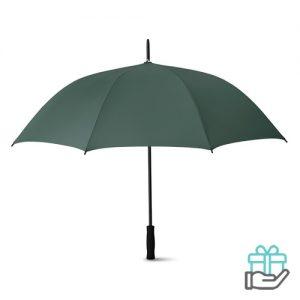 Luxe paraplu 27 inch groen bedrukken