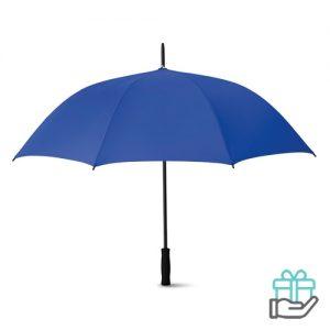Luxe paraplu 27 inch koninklijk blauw bedrukken